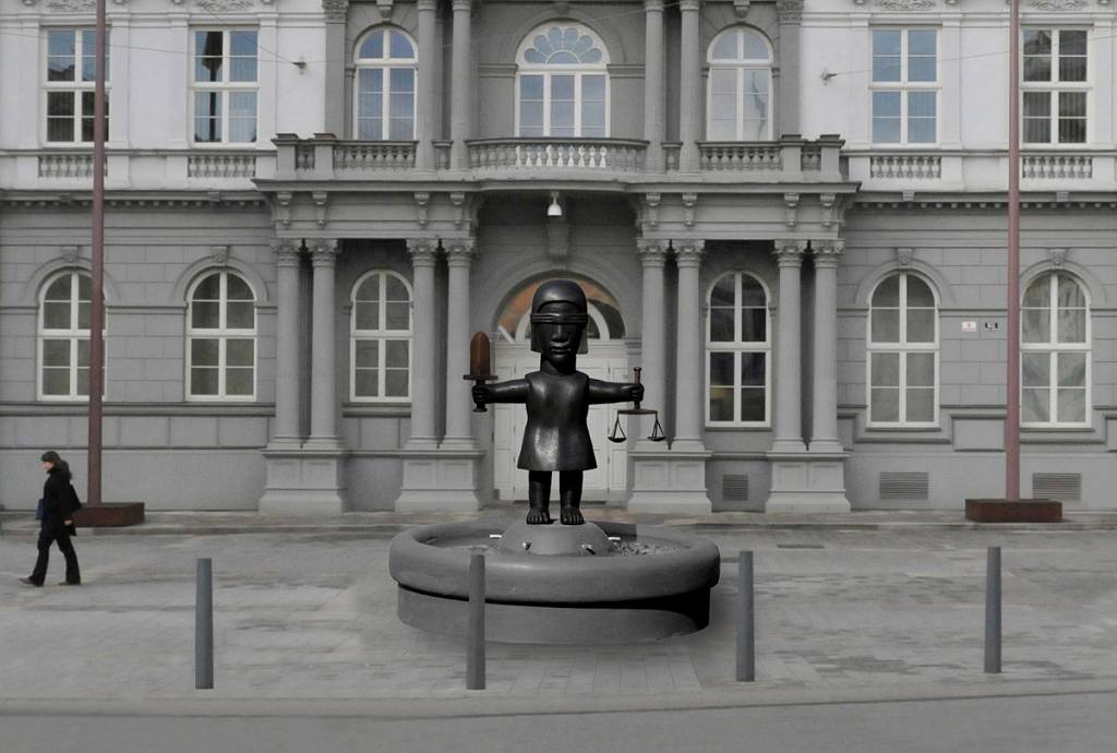 Socha spravedlnosti - fontána
