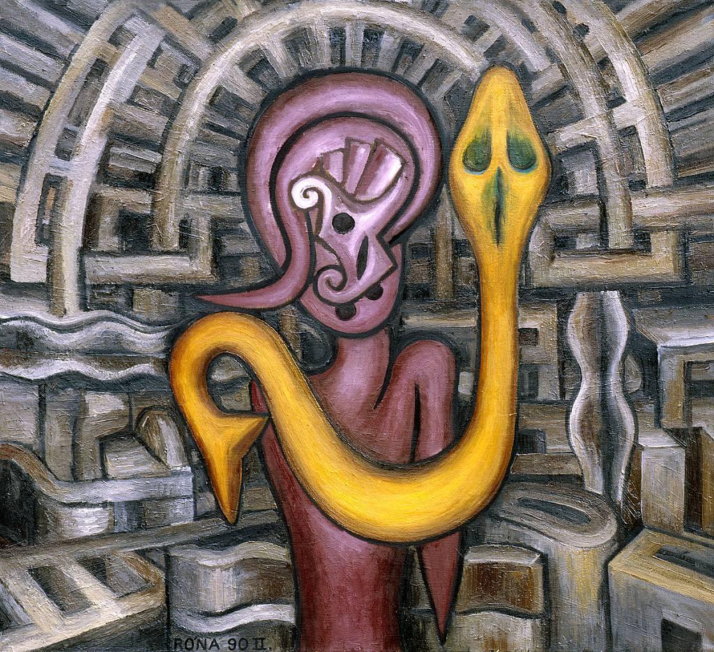 Kouzelník ( s hadem )